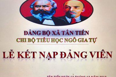 Lễ kết nạp đảng viên : Nguyễn Thị Tuyết Sương.