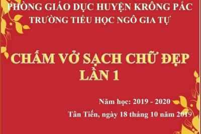 Chấm VSCĐ đợt 1 năm học 2019-2020(18/10/2019)