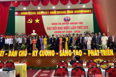 Xin chúc mừng Đảng bộ huyện Krông Pắc! Đảng bộ cấp huyện đầu tiên của tỉnh Đăk Lăk tổ chức Đại hội điểm thành công rực rỡ! Chúc mừng!