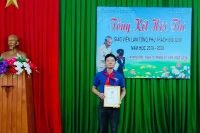 Chúc mừng thầy giáo- Tổng phụ trách Đội: Trịnh Văn Mùi đạt danh hiệu giáo  vien  làm TPT Đội giỏi cấp huyện NH 2019-2020! Chúc mừng!