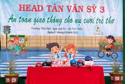 Trường TH Ngô Gia Tự xin chân thành cảm ơn Công ty Hon Đa HEAD TÂN VĂN SỸ 3 đã triển khai chương trình: An toàn giao thông cho nụ cười trẻ thơ cho các em học sinh; tạo sân chơi bổ ích cho các em! Trân trọng❤️ ### Chùm ảnh HĐTN###