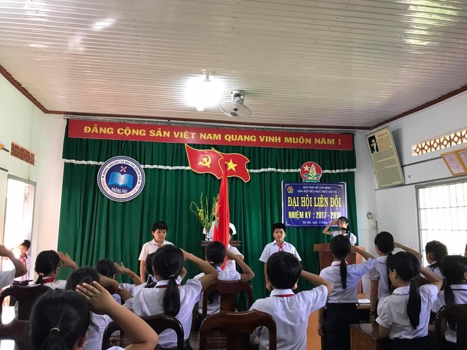 Đai hội Liên Đội Trường Tiểu học Ngô Gia Tự nhiệm kỳ 2017-2018