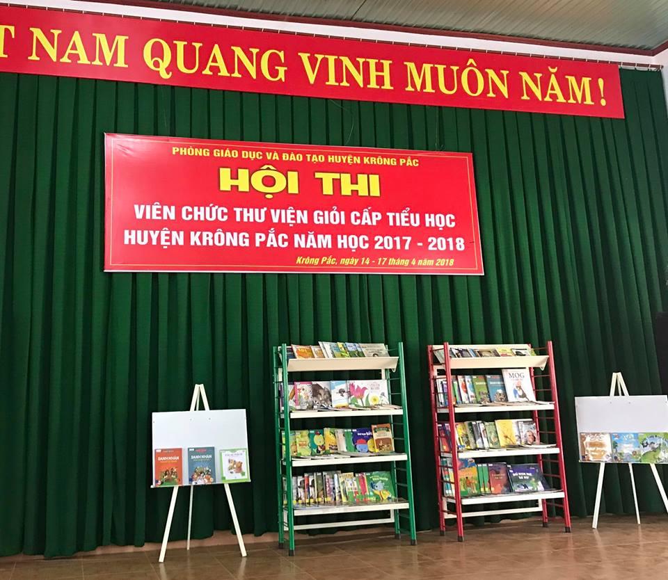 Hội thi viên chức thư viện giỏi cấp tiểu học huyện Krông Pắc năm học 2017-2018